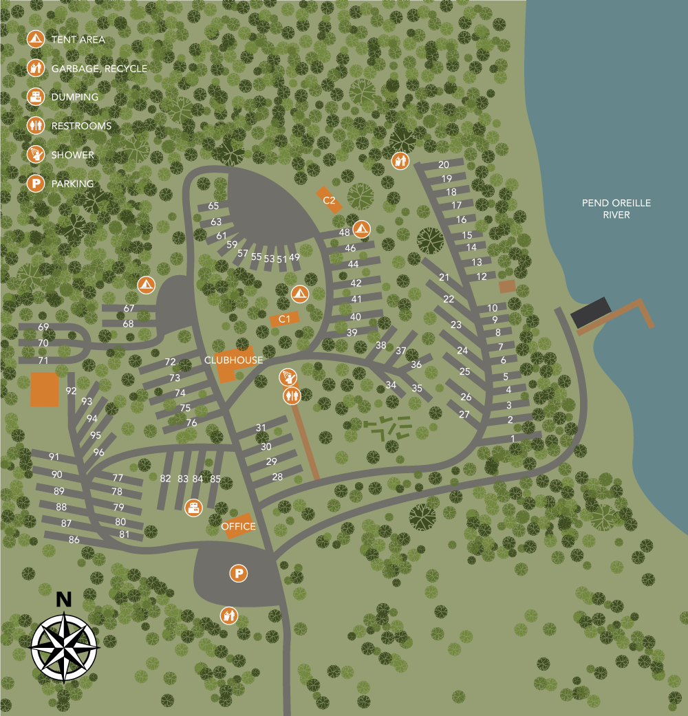 Old American Resort Property Map